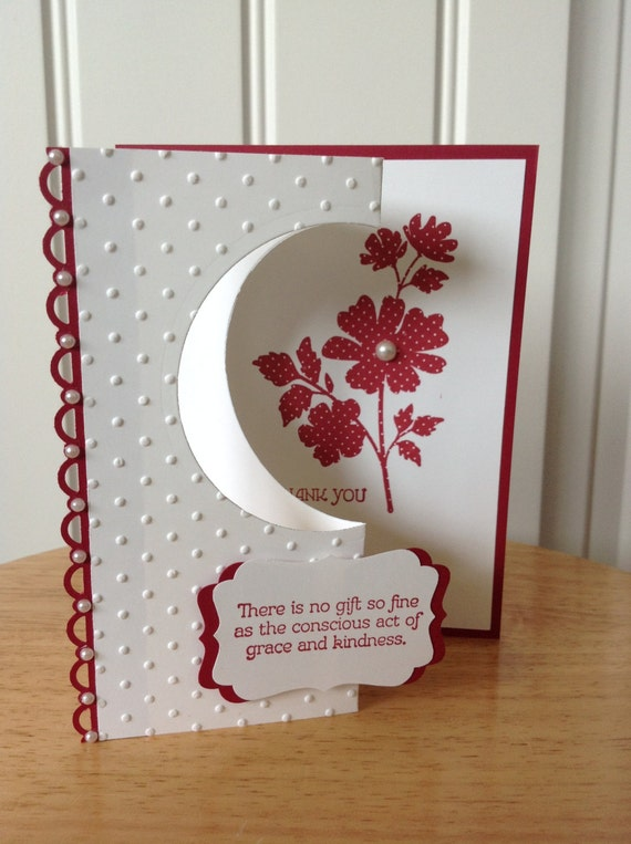 items similar to stampin up handmade thank you card
