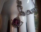 Sterling Amethyst Necklace and Earring