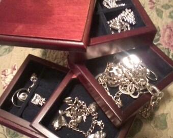 Spiral Wooden Jewelry Box