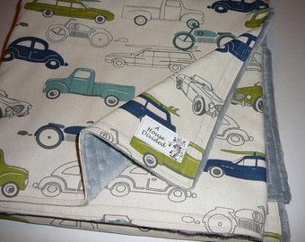 Vintage Cars Blanket