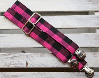 Punk Suspenders (Pink and Black)
