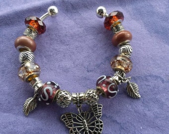 Butterfly of the Forest, Euro style Bracelet