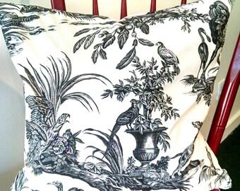Pillow Cover 18 x 18 Pillow Cover-Designer Toile Print fabric-Decorative Pillow Cover, Accent Pillow, Throw Pillow, Toss Pillow