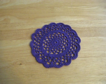 Orchid Crocheted Doily