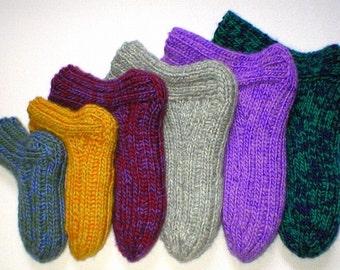 Knitting Pattern - Scrumptious Shagged Slipper Socks, padded slipper pattern, Lamb's Pride Worsted, men, women, kids, PDF pattern