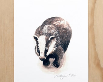 Badger - a Spring Beastie print