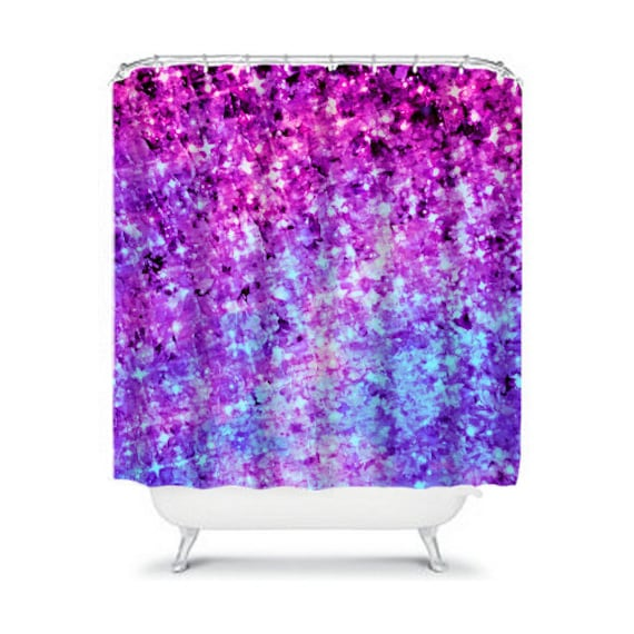 Items similar to radiant orchid galaxy fine art painting for Purple ombre shower curtain