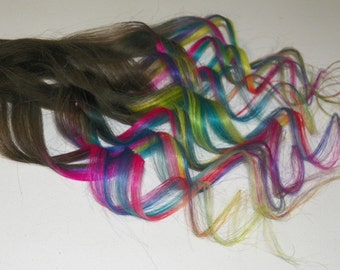 """Remy i tip Ombre hair extensions pink tye dye 18"""" stick tips  dip dye hair extensions by Divine Feathers EDC"""