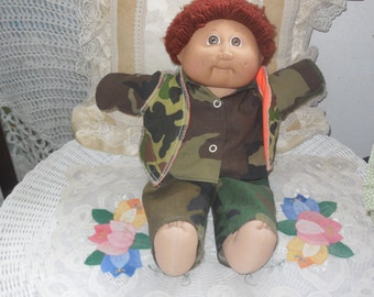 Camouflage Army Cabbage Patch Doll /Not Included In Discount Coupon Sale s:)