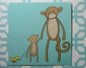 Father and Son - Blank card 140x140mm