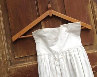 Romantic Antique White Cotton Crocheted Lace Petticoat Skirt