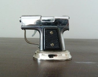 Vintage Occupied Japan Pistol Table Cigarette Lighter