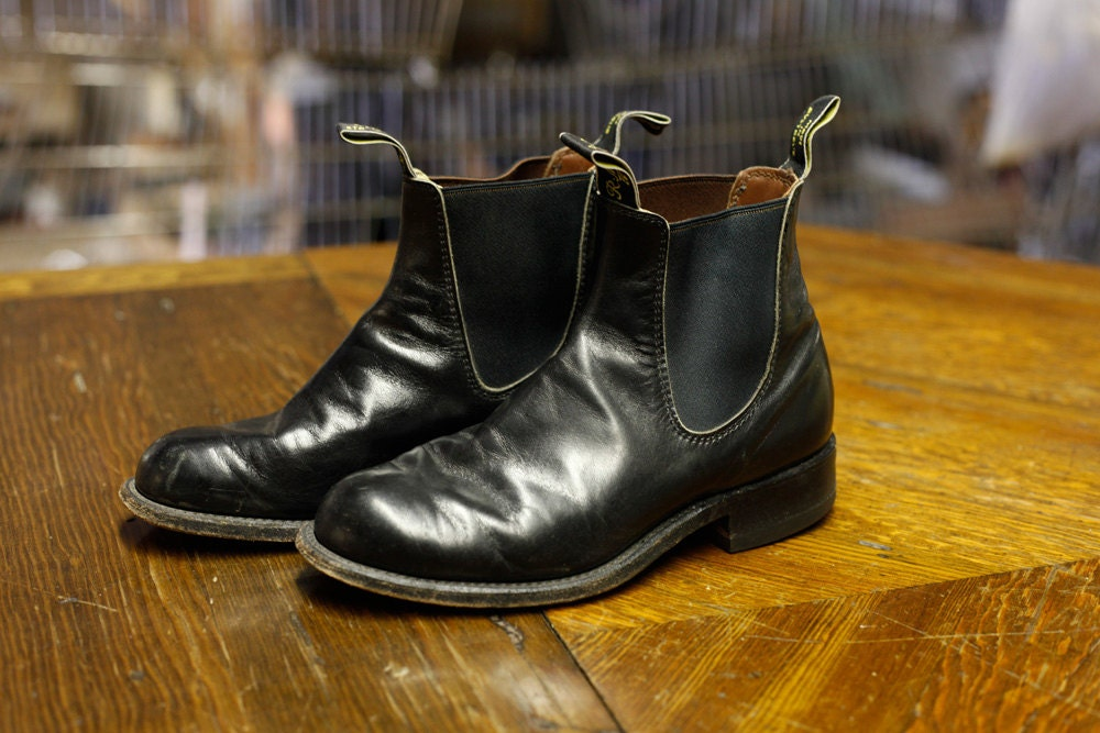 Vintage Black R.M. Williams Chelsea Boots hand crafted in