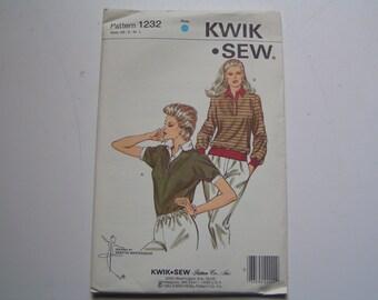 Vintage KWIK SEW Pattern 1232 Miss Top
