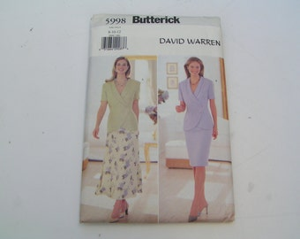 Butterick Pattern 5998 David Warren Miss Top and Skirt
