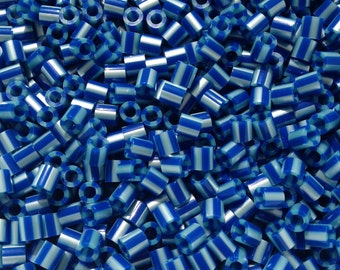 Perler Beads for Sale - Royal Blue Pearl Stripe (143)