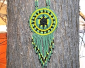 native american, turtle necklace,pow-wow