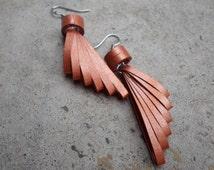 Cooper earrings Paper jewelry Quilled earrings Minimalist jewelry Trendy Modern Elegant