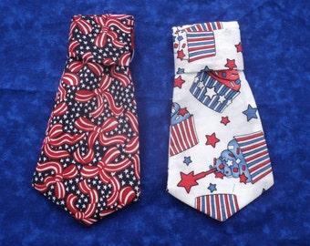 July 4th  Patriotic Dog Neck Tie