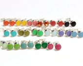 Tiny earring studs 5mm  stud earrings surgical steel set of 3