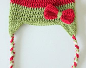 Baby Girl Christmas Hat, Toddler Christmas Hat