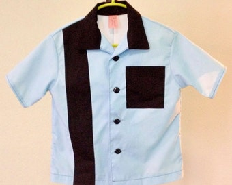 Boys' Bowling Shirt - custom handmade vintage reproduction