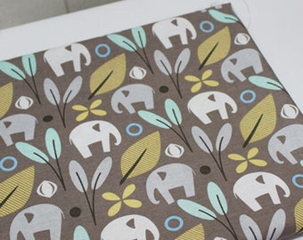Elephants Cotton Fabric - Light Brown - By the Yard 43334
