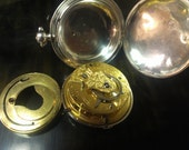 1816 English Hunter case Verge Fusee, Solid Silver Pocket Watch by Jackson of London
