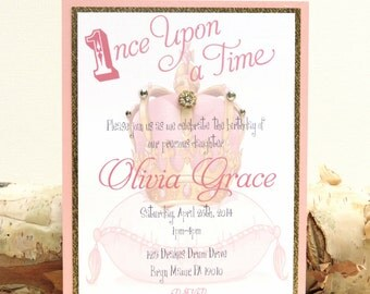 ROYAL: First Birthday Party, Princess Party, Queen Birthday, Crown Birthday Invitation