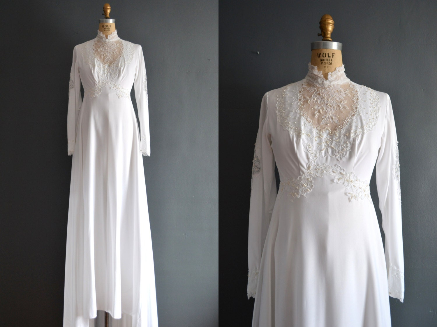 Sale 70s wedding dress 1970s wedding dress deena for 1970s wedding dresses for sale
