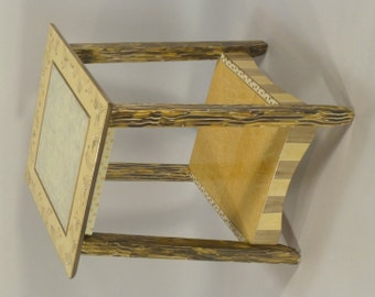 Tower End Table: Gold-Bronze-Ivory, Ships-As-Shown or Custom