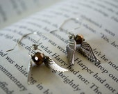 Harry Potter Quidditch Snitch Earrings Snitch Earrings Harry Potter Earrings Quidditch Earrings Harry Potter Fandom