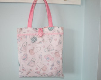 Small High Fashion Dress-up Hats, Shoes, Purses And Hearts Cotton Tote Bag