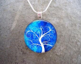 Tree Jewelry - Glass Pendant Necklace - Tree of Life Jewellery - Tree 5