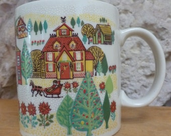 Otagiri Christmas Village mug Gibson Greetings Design