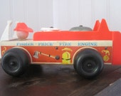 Vintage Fisher Price fire truck, model #720