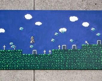 """Zelda 2 Painting 12"""" X 24"""""""