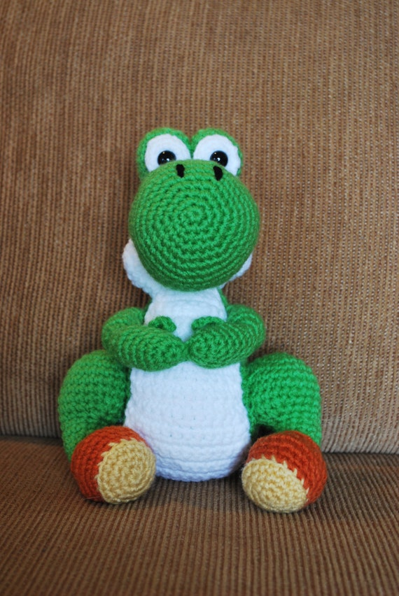 Crochet Yoshi : Crochet Yoshi by theBlackLory on Etsy