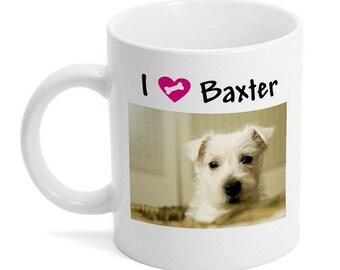 I Love My Dog Photo Mug