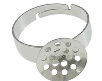 8pc Nickel look lead nickel free adjustable  ring shanks-9258