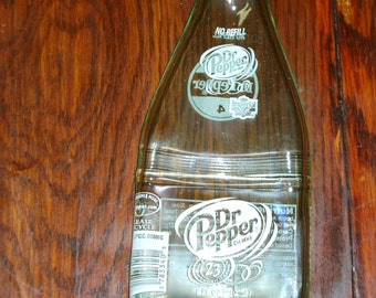 Slumped Dr. Pepper Bottle, Spoon Rest, Imperial Sugar,  Dr. Pepper, paperweight