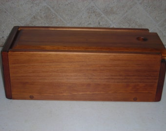 Letter & Bill Box in honey pine finish