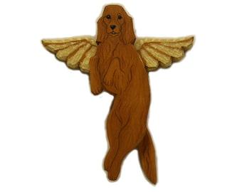 Angel Dog Irish Setter Dog Angel Wooden Wall Hanging