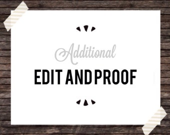 Additional edit & proof