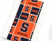 Baby Burp Cloth - Syracuse University SU Orange Burp Cloth - Ready to Ship