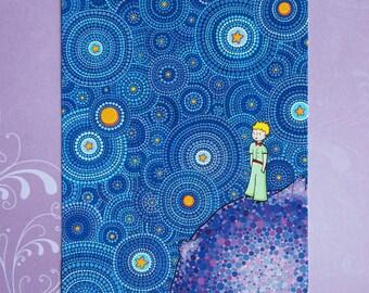 La Cosmic Little Prince carte postale - pleine grandeur