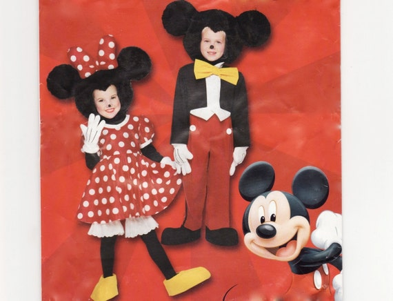 kinder kost m schnittmuster disney micky maus minnie mouse. Black Bedroom Furniture Sets. Home Design Ideas