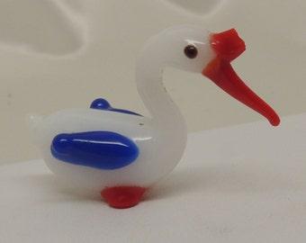 Small Vintage Glass Bird