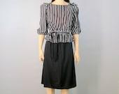 80's Dress Medium 70's Dress Medium 70's Secretary Dress Medium 80's SECRETARY Dress Sexy Dress Peplum 80's Clothing 70's Clothing