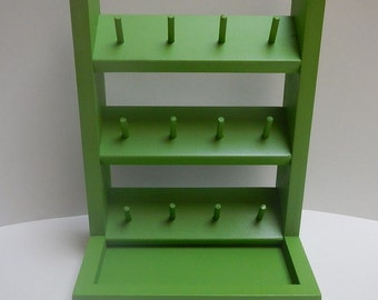 Spool Holder-Sewing accessory-Sewing Storage solution - Bright Green - Holds 12 spools of thread